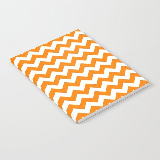 Chevron (Orange/White) Notebook