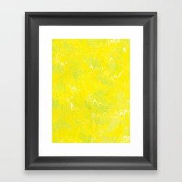 Yellow Lime Scalloped Marbling Framed Art Print