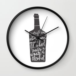 everything in moderation Wall Clock