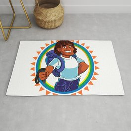 Black Man hiker mascot Rug