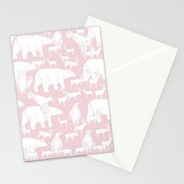 Polar gathering (powder rose) Stationery Cards