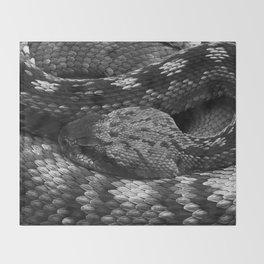 Diamondback Rattlesnake Throw Blanket