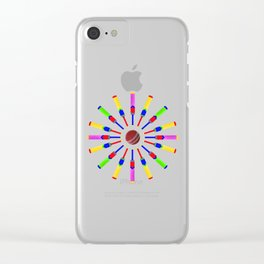 Sport Of Cricket Design version 2 Clear iPhone Case
