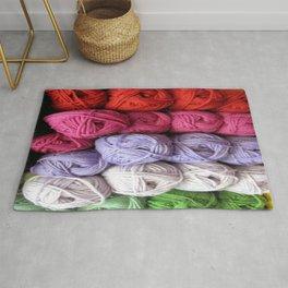 Knitting Yarn Rug