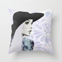 silver Throw Pillows featuring Silver by EISENHART
