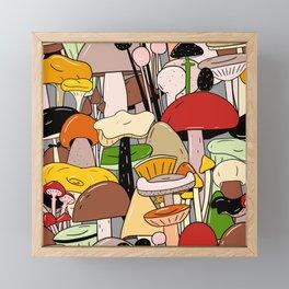Find the false mushroom Framed Mini Art Print