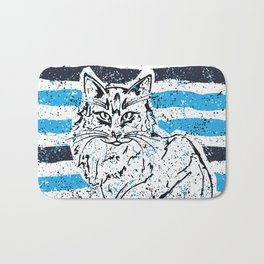 Cat stripes Bath Mat