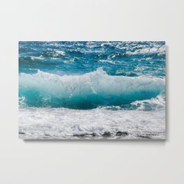Summer Ocean Waves Metal Print