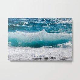 Summer Ocean Waves Metal Print