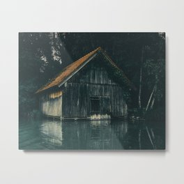 The Boat House Metal Print