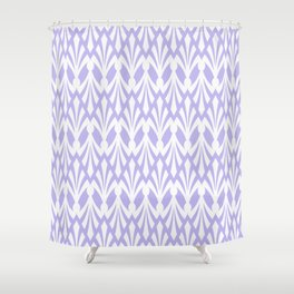 Decorative Plumes - White on Lilac Shower Curtain