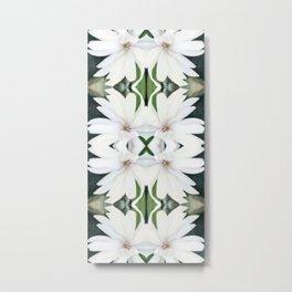 Art Nouveau White Flower Metal Print
