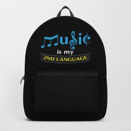 Music Is My 2nd Language Backpack
