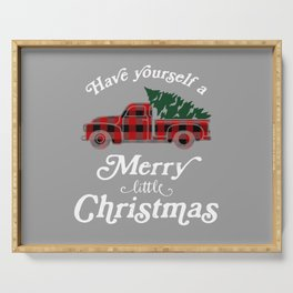 Have yourself a Merry little Christmas Vintage Truck Serving Tray