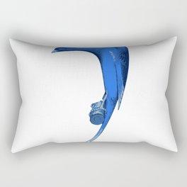Bird in blue Rectangular Pillow