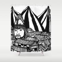 korea Shower Curtains featuring Korea by Matt Ferguson