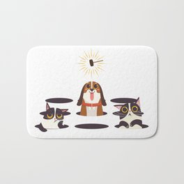 Cute Cats Dogs on Sunny Day Bath Mat