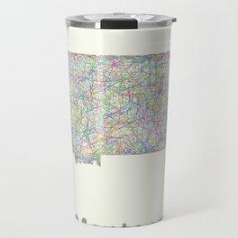 Montana map Travel Mug