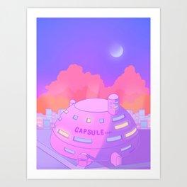 Pastel Capsule Corp Art Print
