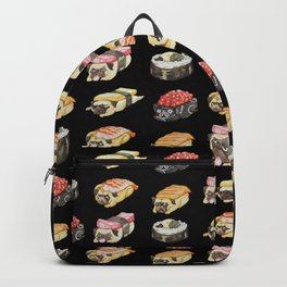 Sushi Pug Watercolor Backpack