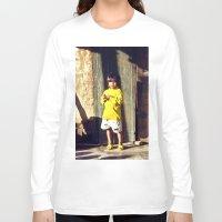 vietnam Long Sleeve T-shirts featuring Cham Village of Vietnam by CAPTAINSILVA