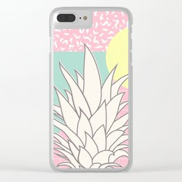 Memphis Pineapple Top Clear iPhone Case