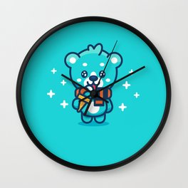 Ice Cream Bear Wall Clock