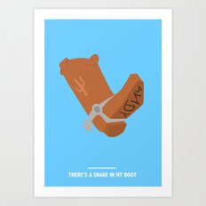 THERE'S A SNAKE IN MY BOOT (Toy Story) Art Print