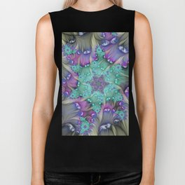 Find Yourself, Abstract Fractal Art Biker Tank
