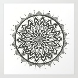 Zehra Mandala Art Print