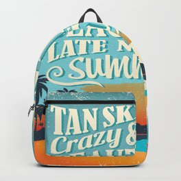 Crazy & lazy Summer Backpack