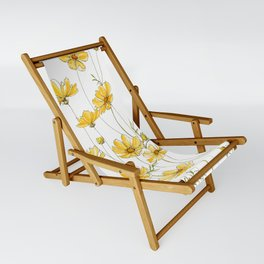 Yellow Cosmos Flowers Sling Chair