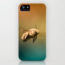Little Bee Wanderer - Macro Photography iPhone Case