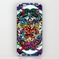 shield iPhone & iPod Skins featuring SHIELD by Paix Vivante