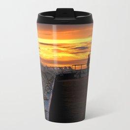 Blackpool pier sunset Travel Mug