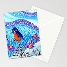 2 Kingfishers Stationery Cards