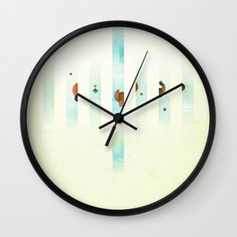 Fence: Facebook Shapes & Statuses Wall Clock