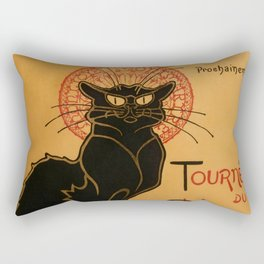 "Théophile Steinlen ""Tournée du Chat Noir"" Rectangular Pillow"