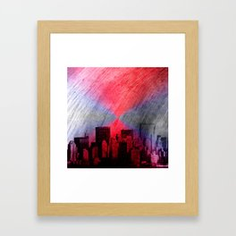 cityscape and colored sky -3- Framed Art Print