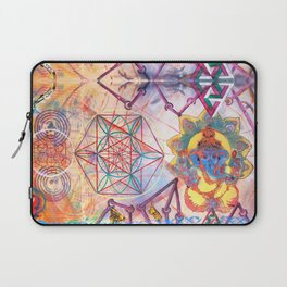 Hindu Geo Psych Laptop Sleeve