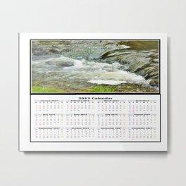 Stream 2017 Calendar Metal Print