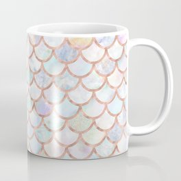 Pastel Memaid Scales Pattern Coffee Mug