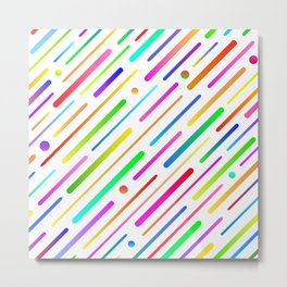 Colorful abstract geometric pattern #boho Metal Print