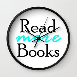 Read More Books Wall Clock