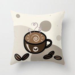 Coffee Art Throw Pillow