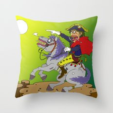 Napoleon goes rampage Throw Pillow