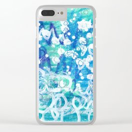 Bubbling Edges Clear iPhone Case