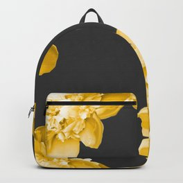 Yellow Flowers On A Dark Background #decor #society #homedecor Backpack