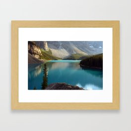 lake moraine,canada Framed Art Print