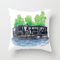 Water Living in Amsterdam by Charlotte Vallance Throw Pillow